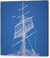 1885 Sails Patent Canvas Print