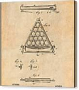 1891 Billiard Ball Rack Patent Print Antique Paper Canvas Print