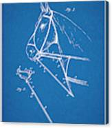 1891 Horse Harness Attachment Patent Print Blueprint Canvas Print