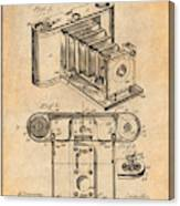 1899 Photographic Camera Patent Print Antique Paper Canvas Print