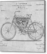 1901 Stratton Motorcycle Gray Patent Print Canvas Print