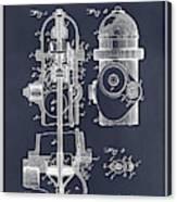 1903 Fire Hydrant Blackboard Patent Print Canvas Print