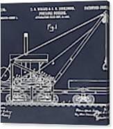 1903 Railroad Derrick Blackboard Patent Print Canvas Print
