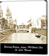 1904 World's Fair Lagoon And Electricity Building Canvas Print