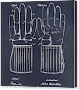 1914 Hockey Gloves Blackboard Patent Print Canvas Print