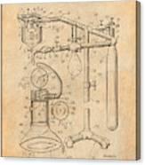 1919 Anesthetic Machine Antique Paper Patent Print Canvas Print