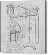 1919 Anesthetic Machine Gray Patent Print Canvas Print