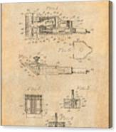 1919 Motor Driven Hair Clipper Antique Paper Patent Print Canvas Print