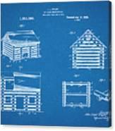 1920 Lincoln Logs Blueprint Patent Print Canvas Print