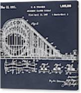 1927 Roller Coaster Blackboard Patent Print Canvas Print