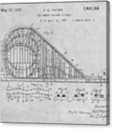 1927 Roller Coaster Gray Patent Print Canvas Print