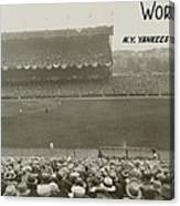 1927 World Series At Yankee Stadium Canvas Print