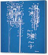 1929 Harley Davidson Front Fork Blueprint Patent Print Canvas Print