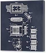 1930 Leon Hatot Self Winding Watch Patent Print Blackboard Canvas Print