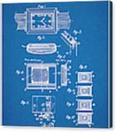 1930 Leon Hatot Self Winding Watch Patent Print Bluebrint Canvas Print