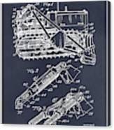 1932 Earth Moving Bulldozer Blackboard Patent Print Canvas Print