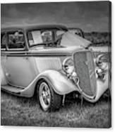 1933 Ford Tudor Sedan With Trailer Canvas Print