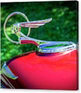 1934 Pontiac Softail Hood Ornament Canvas Print