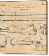 1935 Union Pacific M-10000 Railroad Antique Paper Patent Print Canvas Print