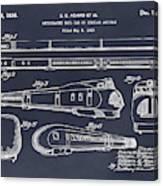 1935 Union Pacific M-10000 Railroad Blackboard Patent Print Canvas Print