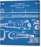 1935 Union Pacific M-10000 Railroad Blueprint Patent Print Canvas Print