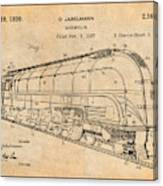 1937 Jabelmann Locomotive Antique Paper Patent Print Canvas Print