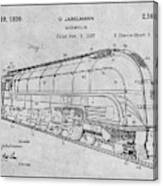 1937 Jabelmann Locomotive Gray Patent Print Canvas Print