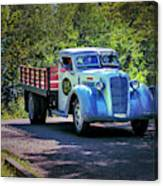 1938 Diamond T Stakebed Truck Canvas Print