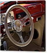1938 Pontiac Silver Streak Interior Canvas Print