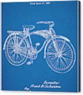 1939 Schwinn Bicycle Blueprint Patent Print Canvas Print