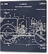 1946 Road Roller Blackboar Patent Print Canvas Print