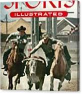 1954 Calgary Stampede Sports Illustrated Cover Canvas Print