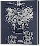 1954 Chrysler 426 Hemi V8 Engine Blackboard Patent Print Canvas Print