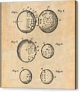 1954 Wiffle Ball Patent Print Antique Paper Canvas Print