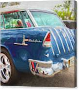 1955 Chevrolet Bel Air Nomad Station Wagon 228 Canvas Print