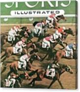 1955 Flamingo Stakes Sports Illustrated Cover Canvas Print