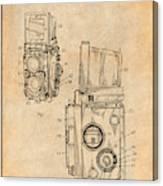 1960 Rolleiflex Photographic Camera Antique Paper Patent Print Canvas Print
