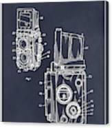 1960 Rolleiflex Photographic Camera Blackboard Patent Print Canvas Print