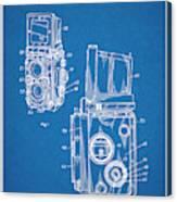 1960 Rolleiflex Photographic Camera Blueprint Patent Print Canvas Print