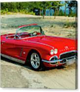 1962 Corvette Roadster Custom Canvas Print