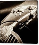 1964 Jaguar Mk2 Saloon Hood Ornament And Emblem-1421bscl Canvas Print