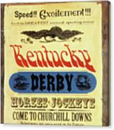 1964 Kentucky Derby Preview Issue Sports Illustrated Cover Canvas Print