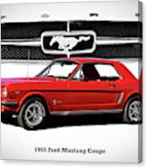 1965 Mustang 289 Coupe Canvas Print