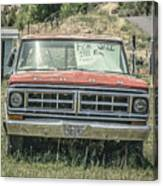 1971 Ford Pickup Truck For Sale In Utah Canvas Print