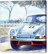 1973 Targa Floria Porsche 911 Carrera Rsr Martini Racing Lennep Muller Winner  Canvas Print