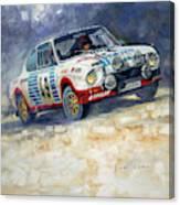 1977 Rallye Monte Carlo Skoda 130 Rs Blahna Hlavka Winner Canvas Print