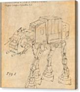 1982 Star Wars At-at Imperial Walker Antique Paper Patent Print Canvas Print