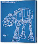 1982 Star Wars At-at Imperial Walker Blueprint Patent Print Canvas Print