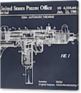 1982 Uzi Submachine Gun Blackboard Patent Print Canvas Print