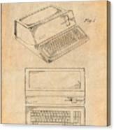 1983 Steve Jobs Apple Personal Computer Antique Paper Patent Print Canvas Print